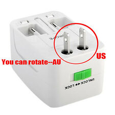 EU AU UK US To Universal World Travel AC Power Plug Convertor Adapter Socket Q