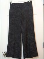 The Limited Women's Cassidy Fit Wide Leg Dress Pants Black White Size 2