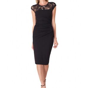 Stunning Hale Bob black dress size L (14-16) Ruched Detail. Sleeveless. NWT