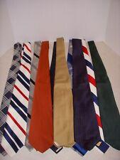 """Vintage Neckties, Lot Of 10, 4"""" Wide, 54"""" Long, Beau Brummel, Assorted Prints!"""