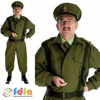 """40s WW2 BRITISH HOME GUARD MILITARY DADS ARMY - 34""""-48"""" mens fancy dress costume"""