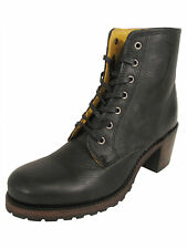 $378 Frye Womens Sabrina 6G Lace Up Leather Ankle Booties, Black, US 6