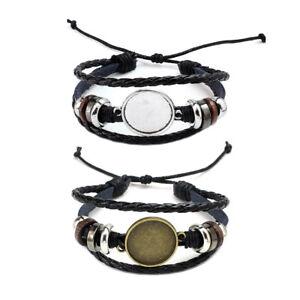 Round 20MM Photo Glass Cabochon Bracelet Setting Base Bezel Tray Jewelry Making