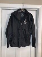 LL Bean Black Misses Rain Jacket, Size Large