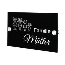 Plexiglas Acryltafel Türschild inkl. Gravur Motiv Strichmännchen Familie