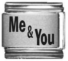 Clearly Charming Me & You Laser Italian Charm