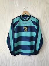 SCOTLAND 1996 1997 GOALKEEPER FOOTBALL SHIRT SOCCER JERSEY VINTAGE UMBRO sz Y