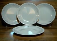 "SET OF 4 - CORNING CORELLE - ENGLISH BREAKFAST - 8 1/2"" LUNCHEON PLATES - EUC"