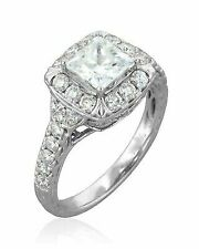 2.50ct Round Cut 14k Solid White Gold Engagement Ring