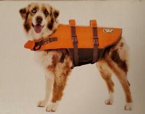 Outward Hound Granby Splash Dog Life Jacket Orange Gray Medium 30-55 lbs