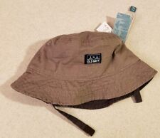 Old Navy Toddler Boys XS 6-12 MONTHS Reversible Sun Hat BROWN / GRAY #32118