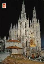 Spain Burgos The Cathedral Nocturnal View Catedral Postcard