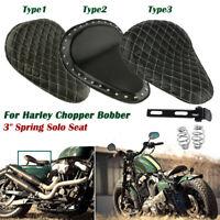 Motorcycle Rivet 3'' Spring Solo Bracket Seat For Harley Chopper Bobber Custom