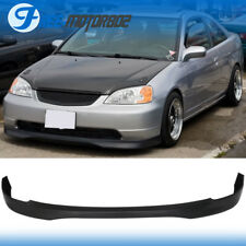 FOR 01-03 HONDA CIVIC 2 4 DR TYPE R FRONT BUMPER LIP SPOILER BODYKIT PP
