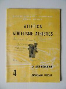 1960 Olympic Games Program Track Field Athletics 4 Sep WILMA RUDOLPH 200 heat