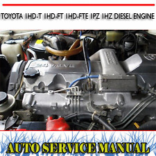 TOYOTA 1HD-T 1HD-FT 1HD-FTE 1PZ 1HZ DIESEL ENGINE WORKSHOP SERVICE MANUAL ~ DVD