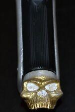 Fits Beretta 92FS magazine extension gold skull on pearl plastic