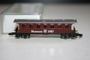Marklin 1987 Z Mini Club Museum Coach Car NIB