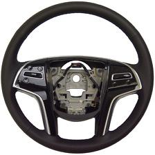 2014 Cadillac SRX Steering Wheel Black Leather New OEM W/CC 23186999 23114541