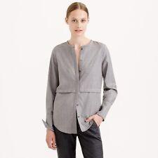 J.CREW Collection Mauve Wool Flannel Blouse Top Shirt Sz 2 $158