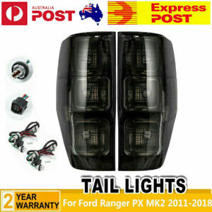 For Ford Ranger PX MK2 2011-2018 Pair of L+R Smoked Black Tail Lights Rear Lamp