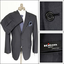 $6K NWT Mens KITON Gray Super 150's Wool Rolling 3Btn Flat Front Suit 54 7R 44 R
