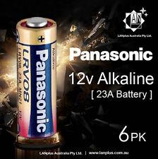 Genuine 6 x Panasonic A23 Alkaline Remote Batteries 12V LRV08 MN21 23A battery
