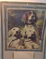 """Vintage Fort Dodge Serum Co. Tear Off Calendar 1930 Dogs """"Sportsmans Pride"""""""
