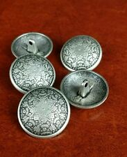 5 buttons 24mm metal shank antique silver color coat blazer jacket seamstress