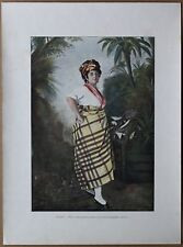 ca.1895 French photochrom QUADROON WOMAN, MARTINIQUE, CARIBBEAN (#355)