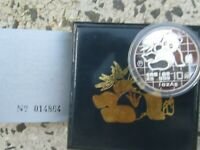 China 10 Yuan 1989 BOX & COA proof Silver coin 1oz silver coin Silber Zertifikat