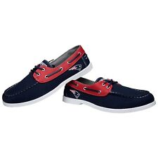 New England Patriots Side Logo Team Color Boat Casual Shoes Slip On Men's Sizing