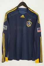 Men Adidas Official Los Angeles Galaxy 2014 Away Jersey Long Sleeves L XMT637