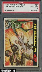 1962 Mars Attacks #24 The Shrinking Ray PSA 8 NM-MT