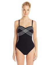 NWT GOTTEX Ladylike Luxe Heart Shape Bandeau One Piece Swimsuit [SZ 6] #620