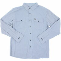 Brixton Mens Olson L/S Woven Button Up Twilight Blue M New