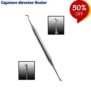 Ligatureninstrument Ligature Director Tucker- double ended Scaler hollow handle