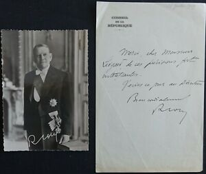 Président René COTY autographe #2