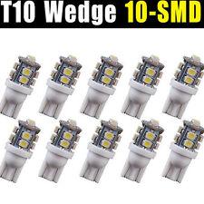 10pcs T10 Wedge License Plate Frame Tag White 10-SMD LED Light Bulb 168 194 2825