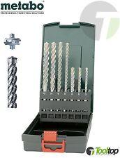 SDS Plus Bohrer Satz Metabo 7tlg Vierschneider 4-Schneider P4P RoseBox Set Beton