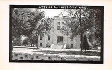 Kansas Ks Postcard Real Photo RPPC c1950s NESS CITY Ness County Court House