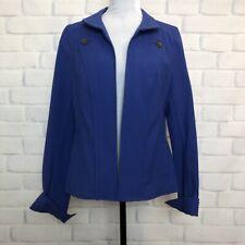Nina McLemore Blue Open Jacket Size 10 Equestrian Techno Stretch