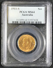 1911-S Australia Sovereign PCGS MS-64