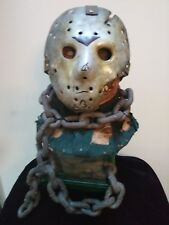 Friday the 13th part 7 latex Jason Voorhees bust with hero hock and custom stand