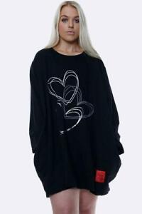 NEW Womens RED LABEL Triple HEART Lagenlook PLUS SIZE Sweatshirt Tunic Top