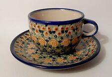 TOP Kaffee / Tee Tasse Untertasse / Unterteller Bunzlauer Keramik 200 ml (ta27)