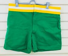 Vtg Mens Xl Coach's Athletic Shorts Green Polyester New Era Knitting Mills Usa