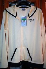 Nike Womens jersey knit jacket NWT yellow and navy