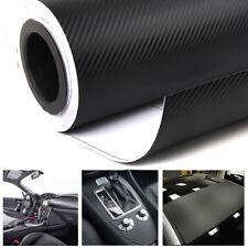 3D Car Truck Interior Accessories Panel Black Carbon Fiber Vinyl Wrap Sticker