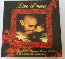 Gothic Rock Music CD Box Set + Tee Shirt Book 10 Disc Set LIVE FOREVER Horror